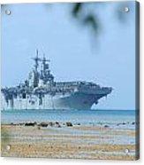 The Amphibious Assault Ship Uss Boxer  Acrylic Print by Paul Fearn