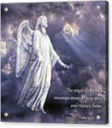 The Angel Of The Lord Acrylic Print by Bonnie Barry