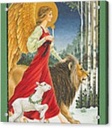 The Angel The Lion And The Lamb Acrylic Print by Lynn Bywaters