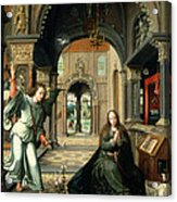 The Annunciation, Early 16th Century Acrylic Print by Bernart van Orley