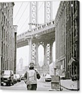 The Artist In New York Acrylic Print by Shaun Higson