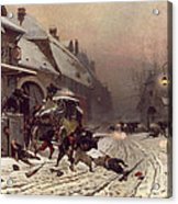 The Attack At Dawn Acrylic Print by Alphonse Marie De Neuville