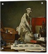 The Attributes Of The Arts And The Rewards Which Are Accorded Them Acrylic Print by Jean Baptiste Simeon Chardin
