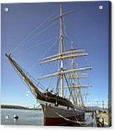 The Balclutha Historic 3 Masted Schooner - San Francisco Acrylic Print by Daniel Hagerman