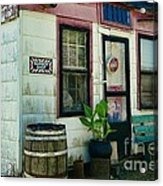 The Barber Shop From A Different Era Acrylic Print by Paul Ward