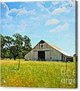 The Barn Acrylic Print by Cheryl Young