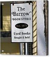 The Barrow Acrylic Print by Allan Morrison