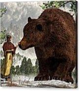 The Bear Woman Acrylic Print by Daniel Eskridge