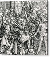 The Bearing Of The Cross From The 'great Passion' Series Acrylic Print by Albrecht Duerer
