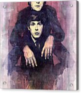 The Beatles John Lennon And Paul Mccartney Acrylic Print by Yuriy  Shevchuk