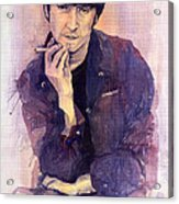 The Beatles John Lennon Acrylic Print by Yuriy  Shevchuk