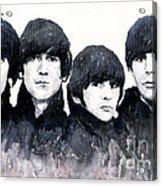 The Beatles Acrylic Print by Yuriy  Shevchuk