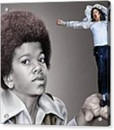 The Best Of Me - Handle With Care - Michael Jacksons Acrylic Print by Reggie Duffie