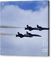The Blue Angels Acrylic Print by Benjamin Reed