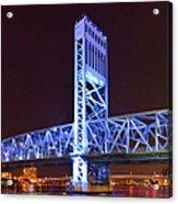 The Blue Bridge - Main Street Bridge Jacksonville Acrylic Print by Christine Till