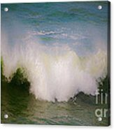 The Breaking Of A Wave ... Acrylic Print by Gwyn Newcombe