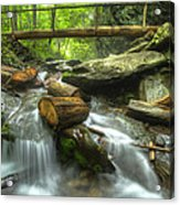 The Bridge At Alum Cave Acrylic Print by Debra and Dave Vanderlaan