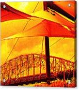 The Bridge On Mars Acrylic Print by Wendy J St Christopher