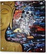 The Buddha Way Acrylic Print by Meenakshi Chatterjee