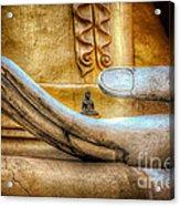 The Buddhas Hand Acrylic Print by Adrian Evans