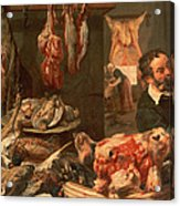 The Butcher's Shop Acrylic Print by Frans Snyders