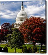 The Capitol Acrylic Print by Greg Fortier