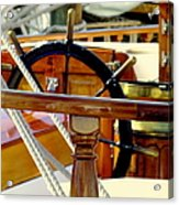 The Captain's Wheel Acrylic Print by Karen Wiles