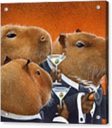The Capybara Club... Acrylic Print by Will Bullas