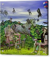 The Chairs Of Oz Acrylic Print by Betsy C Knapp