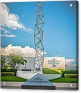 The Challenger Memorial - Bayfront Park - Miami - Hdr Style Acrylic Print by Ian Monk