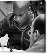 The Chess Player Acrylic Print by Bernard  Barcos