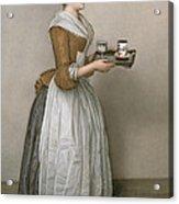 The Chocolate Girl Acrylic Print by Jean-Etienne Liotard