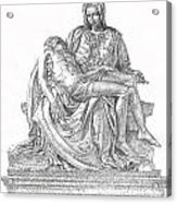 The Christ Acrylic Print by Richard Johns