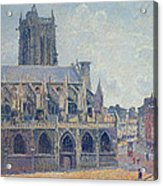The Church Of St Jacques In Dieppe Acrylic Print by Camille Pissarro