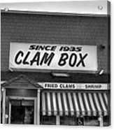 The Clam Box Acrylic Print by Joann Vitali