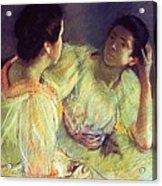 The Conversation Acrylic Print by Mary Stevenson Cassatt