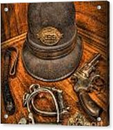 The Copper's Gear - Police Officer Acrylic Print by Lee Dos Santos