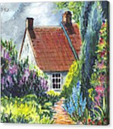 The Cottage Garden Path Acrylic Print by Carol Wisniewski