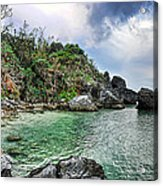 The Cove Acrylic Print by Ryan Wyckoff