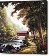 The Covered Bridge Acrylic Print by John Zaccheo