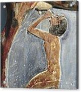 The Cow Goddess Hathor Breast Feeding Acrylic Print by Everett