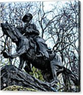 The Cowboy Acrylic Print by Bill Cannon