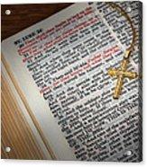 The Cross Of Jesus Acrylic Print by David and Carol Kelly