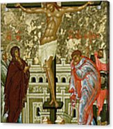 The Crucifixion Of Our Lord Acrylic Print by Novgorod School