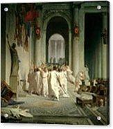 The Death Of Caesar Acrylic Print by Jean Leon Gerome