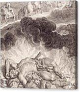 The Death Of Hercules Acrylic Print by Bernard Picart