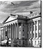 The Department Of Treasury Acrylic Print by Olivier Le Queinec