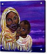 The Devotion Of A Mother's Love Acrylic Print by The Art With A Heart By Charlotte Phillips