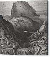 The Dove Sent Forth From The Ark Acrylic Print by Gustave Dore