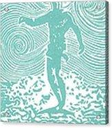 The Duke In Aqua Acrylic Print by Stephanie Troxell